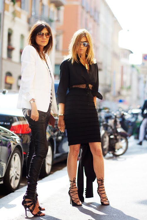 Emmanuelle Alt & Carine Roitfeld