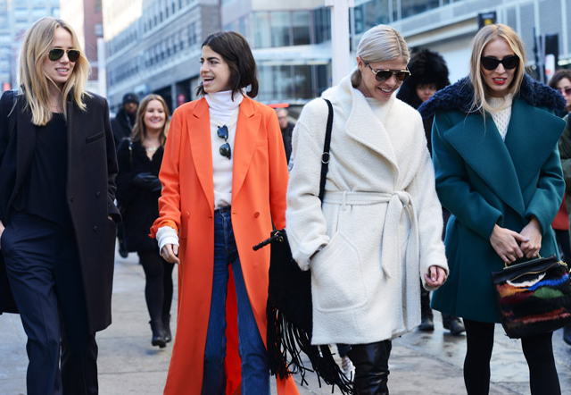 Manrepeller and co. looking super stylish in their winter coats...